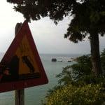 Klippen-Warnug für Autofahrer