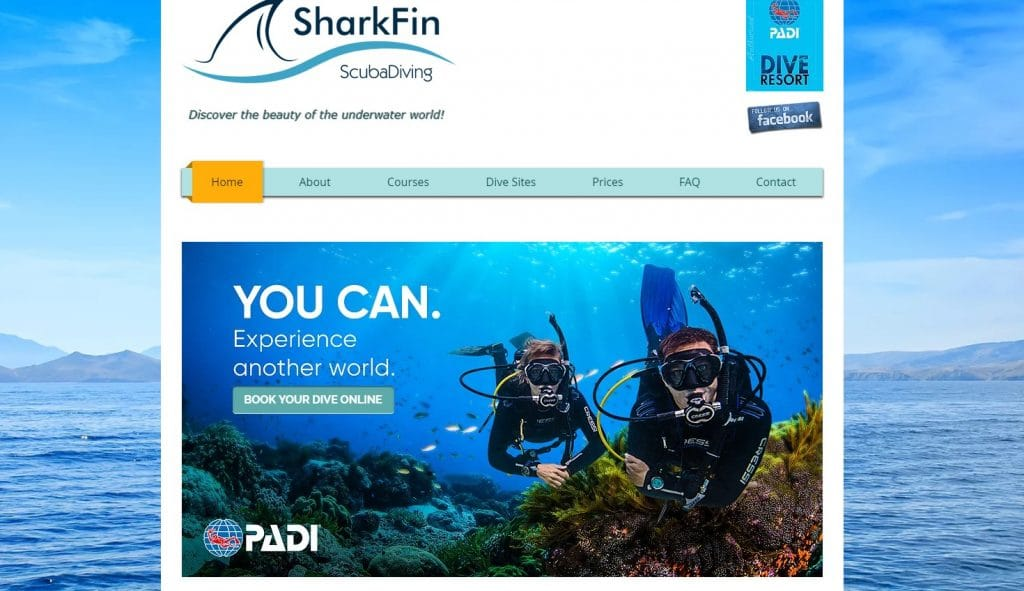 Shark Fin Scuba Diving Sithonia